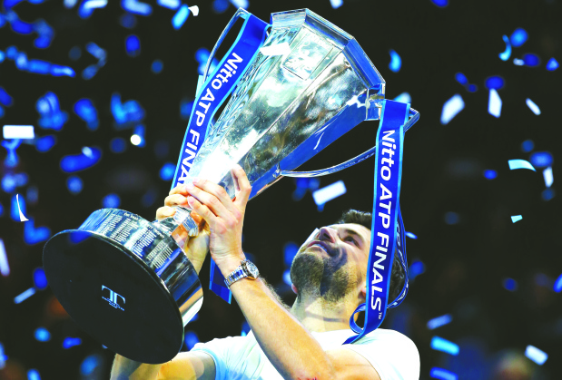 Crowning Glory: Dimitrov tames Goffin to win ATP finals trophy