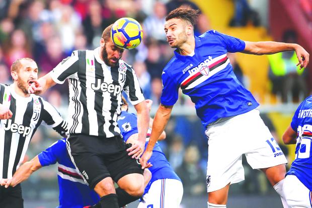 Serie A: Juve go down to gutsy Sampdoria