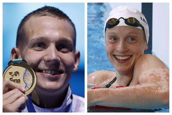 Dressel, Ledecky win athletes of year at Golden Goggles