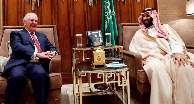 Saudi Crown Prince and Tillerson discuss regional stability