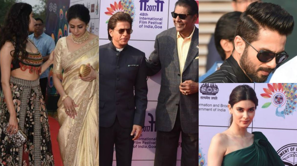 Bollywood: Photos: Sridevi, Shah Rukh, Shahid shine at the IFFI 2017