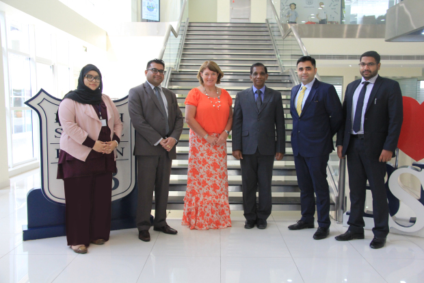 The British School of Bahrain (BSB) has announced a joint venture with the Bahrain Financing Company (BFC) to make payment of tuition fees simpler and more convenient for parents. Term payments can be made at any of the BFC branches at a minimum fee of BD1 per transaction. At the signing of the deal are, from left, BSB public relations and marketing head Amal Darwish, finance head Nitin Kadam, head of school Julie Anne Gilbert, BFC general manager Pancily Varkey, corporate business development manager Roger Menezes and corporate business development officer Sachin Vinod.