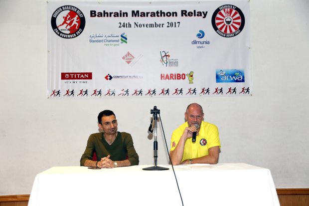 <p><em>At the event are, from right, organising committee chairman Simon Cox and member Mahmood Al Mohri.</em></p>