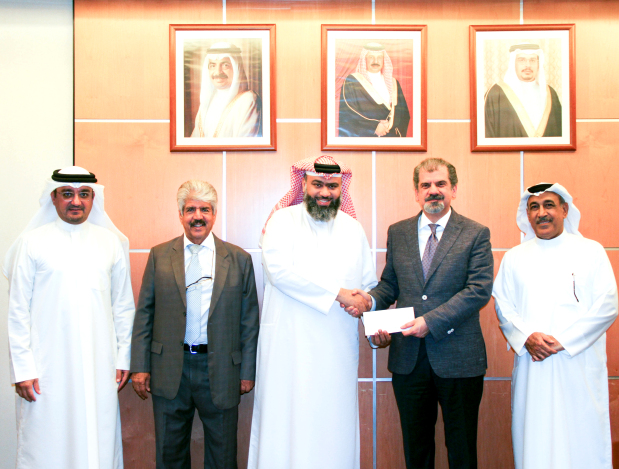 "<p><span id=""_mce_caret"" data-mce-bogus=""true"" style=""""><em>At the presentation are, from left, Seef Properties chief executive Ahmed Yusuf, vice-chairman and corporate social responsibility (CSR) committee chairman Dr Mustafa Al Sayed, Mr Hassan, Mr Najibi, Seef Properties board secretary and CSR committee member Zakareya Buallay.</em></span><br></p><p>Seef Properties donated BD3,000 to Al Hedaya Islamic Centre as part of the real estate company's mission to support charitable initiatives. Seef Properties chairman Essa Najibi presented the cheque to centre board member Salah Bu Hassan at a ceremony. </p>"