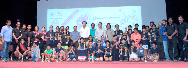 Sanjay clinches badminton titles