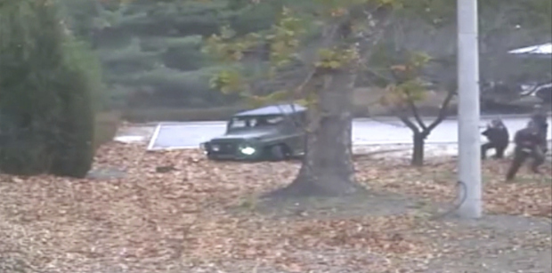Dramatic video shows escape, shooting of North Korean defector