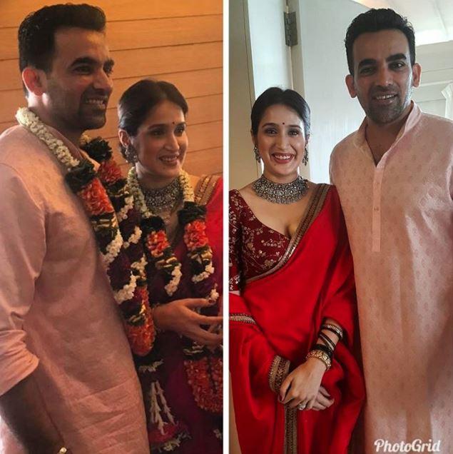 Zaheer Khan marries Sagarika Ghatge