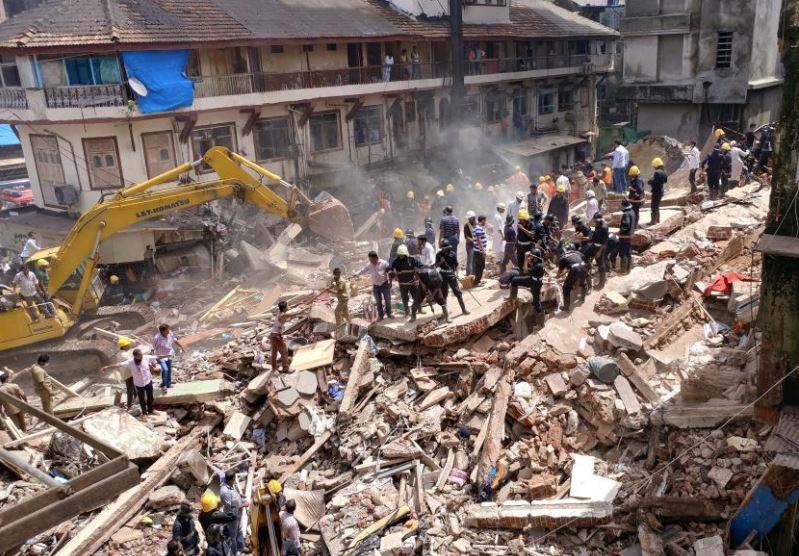 India: One killed as building collapses in Bhiwandi, Mumbai