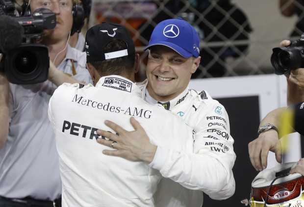 Bottas gets pole position ahead of Hamilton for Abu Dhabi GP