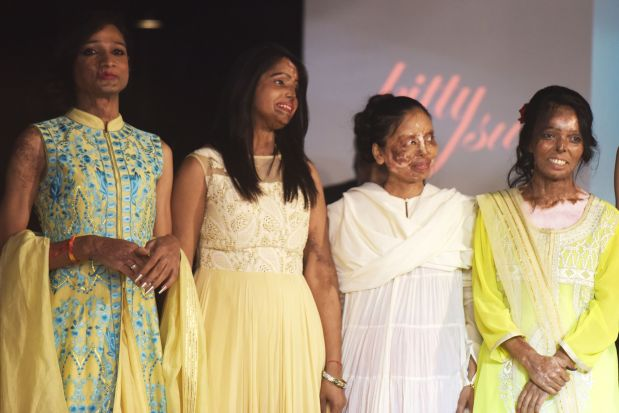 In Pictures: India acid attack victims defiant on the haute couture catwalk