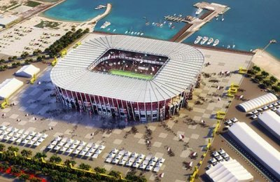 Qatar launches first demountable World Cup stadium