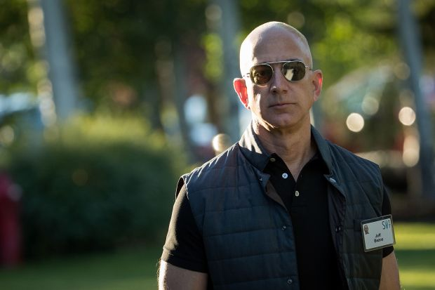 Bezos a $100 bn man as Amazon rises on cyber shopping