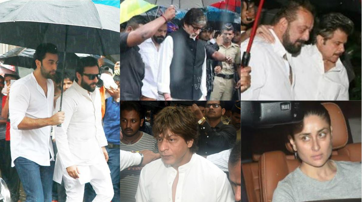 Photos: Amitabh Bachchan, SRK, Saif, Ranbir at Shashi Kapoor's funeral