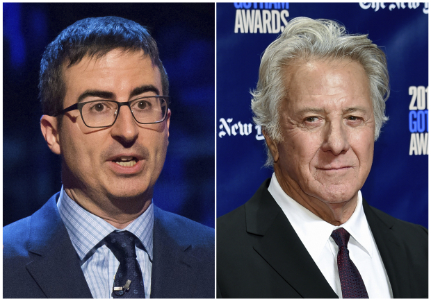 Dustin Hoffman grilled over sexual misconduct claims by John Oliver