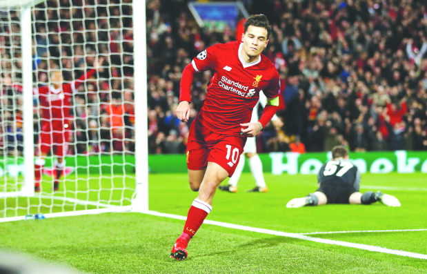 Champions League: Liverpool barge into last 16