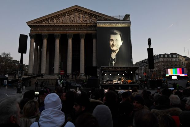 France to mourn rock star Hallyday with exceptional pomp