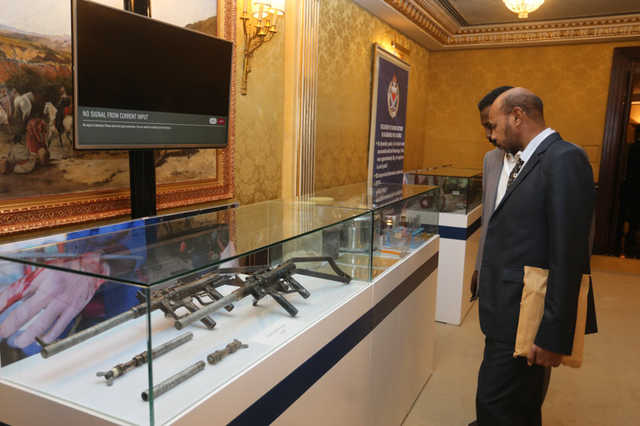 Weapons used by terrorists in Bahrain showcased at special exhibition