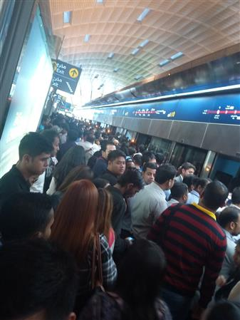 Dubai Metro commuters stranded as trains stop