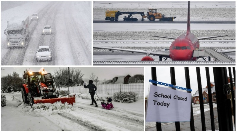 In Pictures: Heavy snow, high winds wreak havoc across Europe