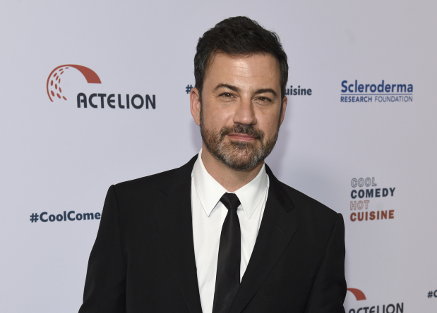 Kimmel holds son, pleads for health care