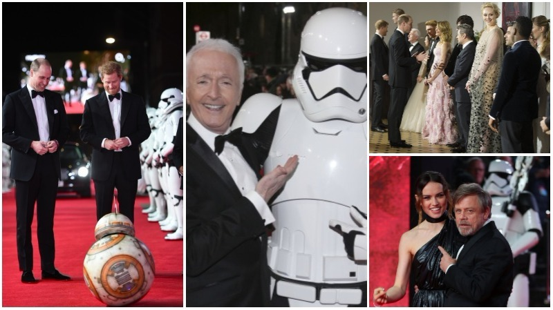 A ROYAL AFFAIR: Princes, cast, stormtroopers attend 'The Last Jedi' London premiere