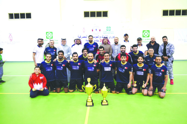 DOUBLE JOY: Khaleeji Bank lift futsal cup and league titles