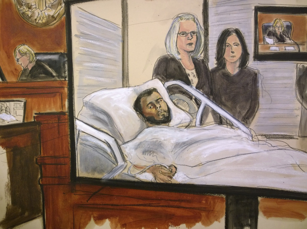 New York subway bombing suspect arraigned from hospital bed
