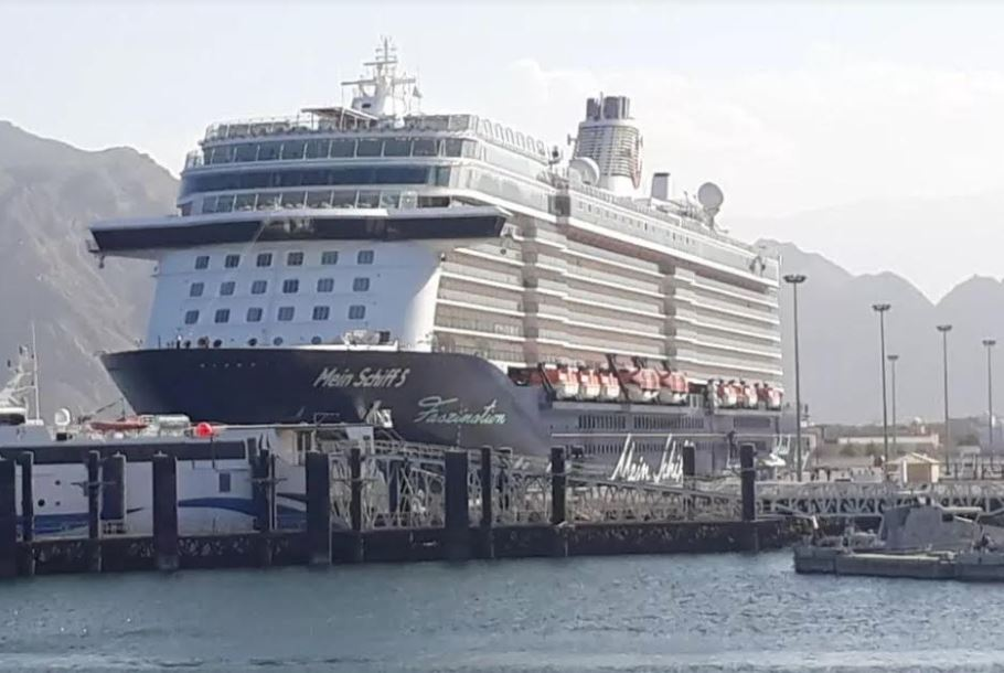 Maltese cruise ship docks in Oman