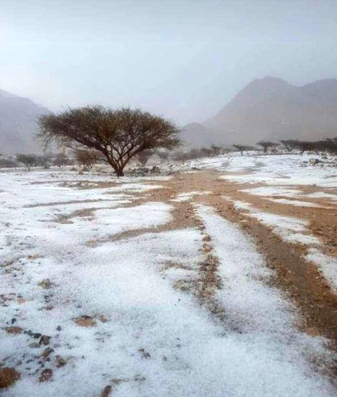 Snow caps mountains in Ras Al-Khaimah