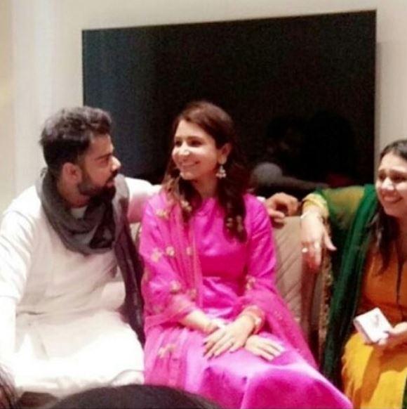 Virat Kohli and Anushka Sharma post-wedding photos