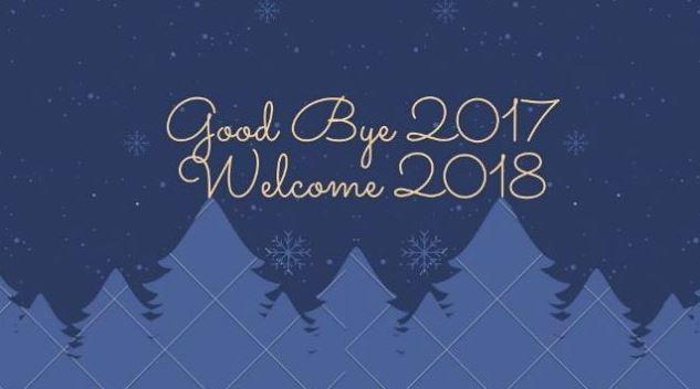Bye bye 2017...