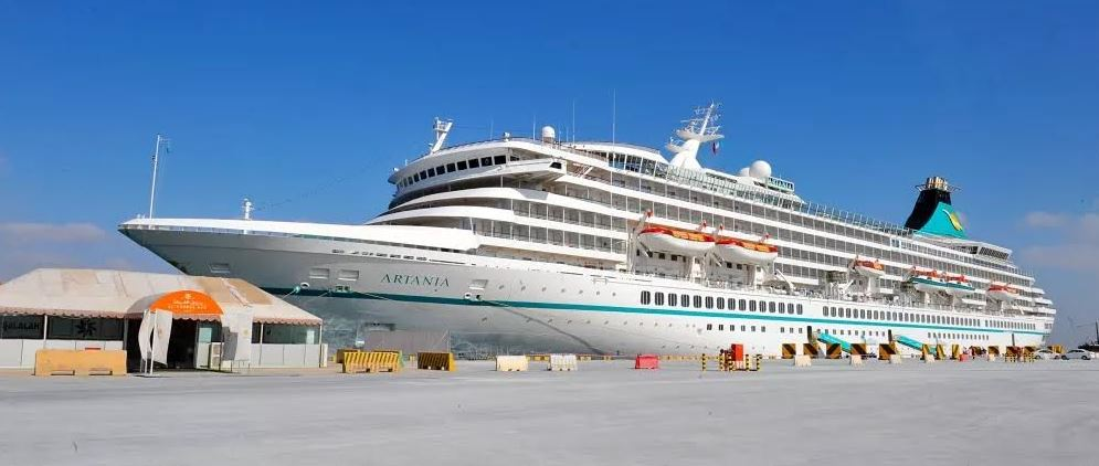Italian cruise ship docks in Salalah port