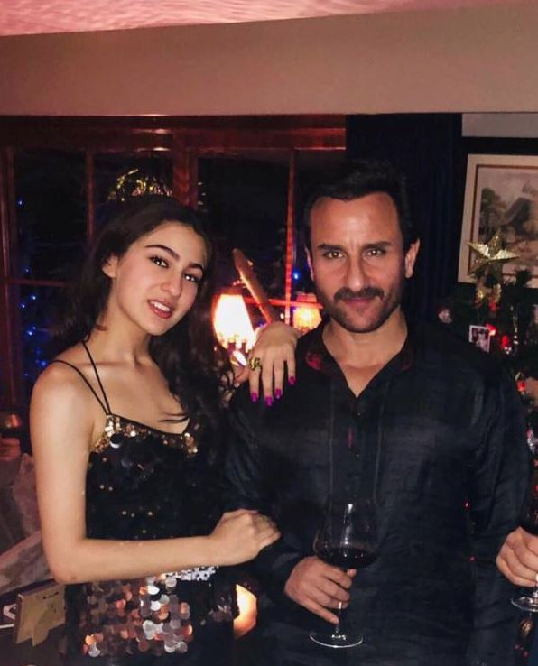 Sara Ali Khan shines as she poses with dad Saif