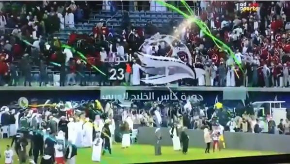 25 Omanis injured after the barricade collapses in Shaikh Jaber Stadium