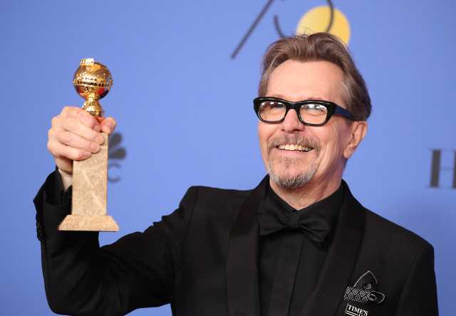 Oldman wins Golden Globe for best drama actor for 'Darkest Hour'
