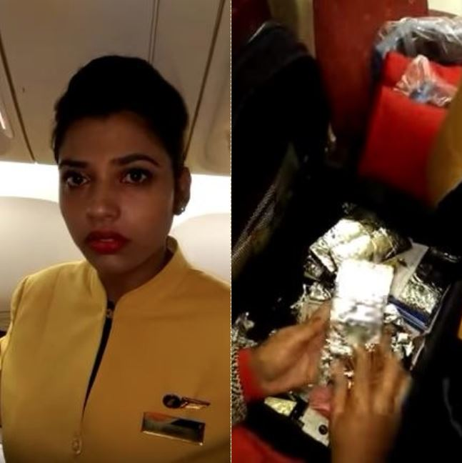 World News: India: Jet Airways flight attendant caught smuggling USD480,200 wrapped in foil