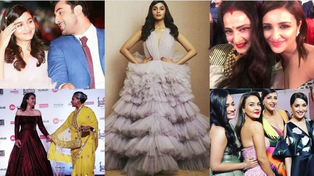 Candid, behind-the-scene photos and selfies from the Filmfare 2018 awards
