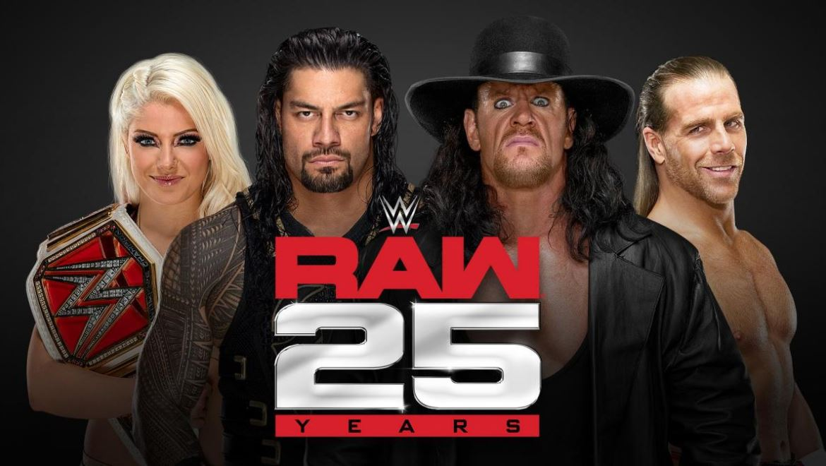 25th anniversary of Monday Night Raw will emanate from two arenas!