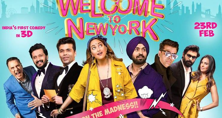 'Welcome To New York' trailer promises a fun-filled movie with Diljit Dosanjh, Sonakshi and 2 Karan Johars