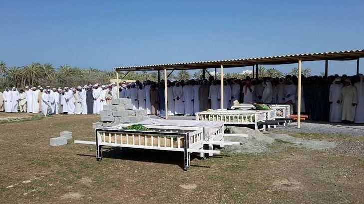 Seven Emirati children from one family who died in fire buried