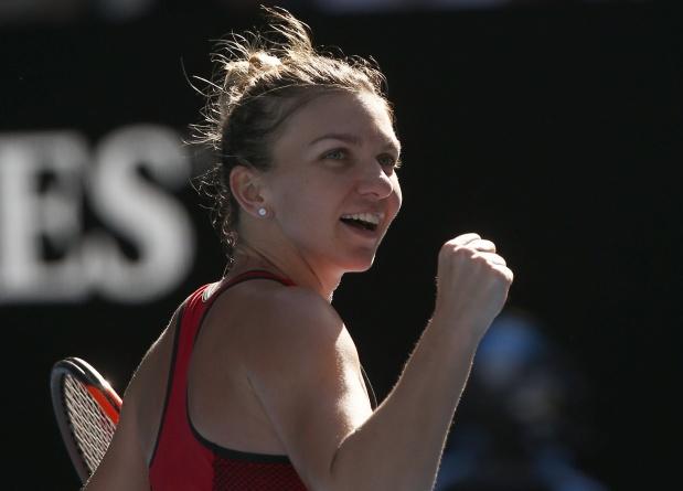 Australian Open: Halep batters Pliskova to set up Kerber semi-final