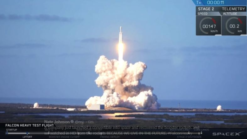 Tech Talk: VIDEOS & PICTURES: SpaceX launches world's most powerful rocket toward Mars