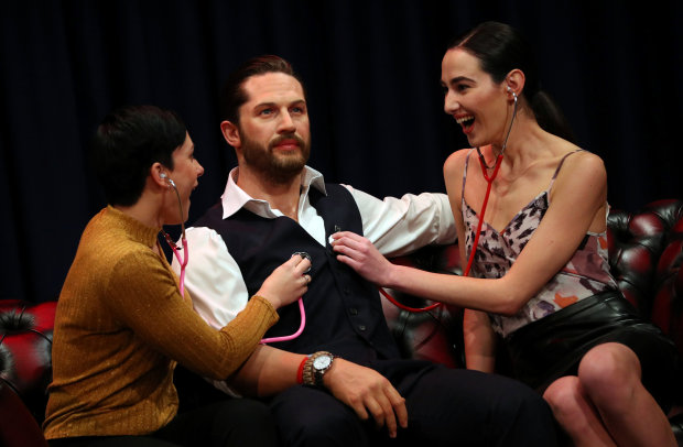 Hollywood: It's alive! Tom Hardy waxwork with beating heart unveiled in London