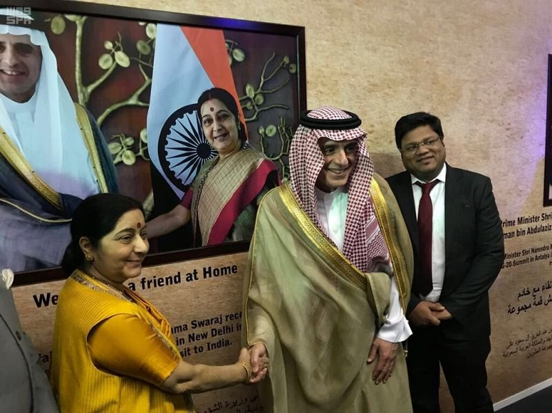 Saudi foreign minister visits Indian pavilion at Janadriya festival