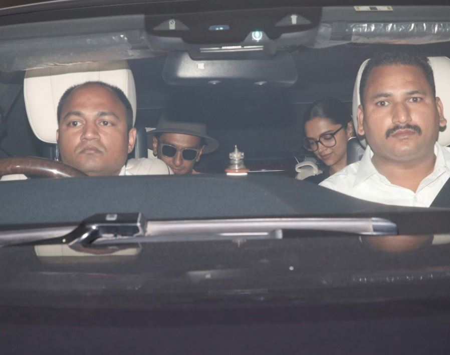 Bollywood: IN PICTURES: Deepika and Ranveer spotted outside Karan Johar's residence