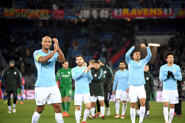 Image result for vincent kompany man city champions league
