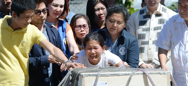 Body of Filipina flown home from Kuwait