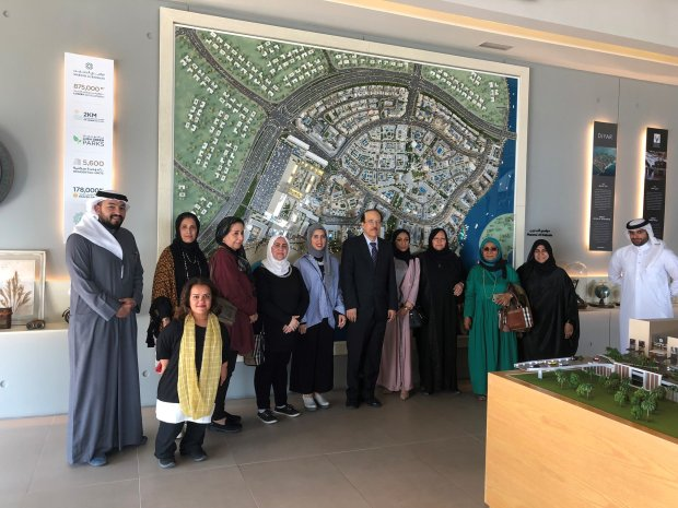 <p>More than 20 representatives from the Bahrain Reproductive Health and Family Planning Association were hosted by Marassi Al Bahrain at its sales centre in Diyar Al Muharraq. </p><p>They were taken on a tour of the waterfront development and treated to breakfast. The visit was part of Marassi Al Bahrain's efforts to promote the development. </p><p>Above, Marassi Al Bahrain representatives along with the association members.</p>