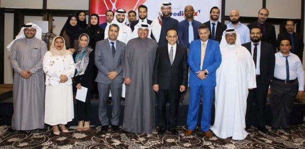 <p>Honoured employees with Mr Mirza and other officials</p>