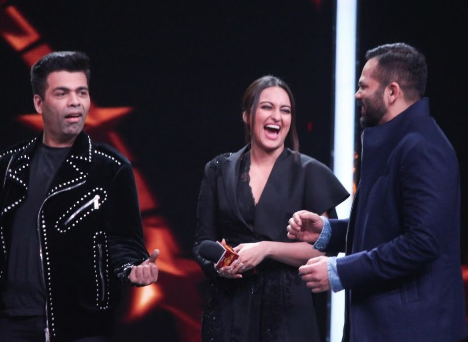 Bollywood: PHOTOS: Sonakshi, Karan Johar and Rohit Shetty glam up on the sets of reality show